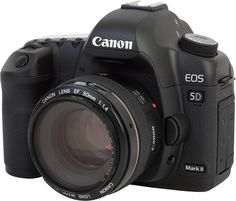 Canon 5D Mark II  supposedly mark III is due out soon, but I'm still trying to hoard enough money for this...*le sigh