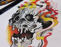 "Check out new work on my @Behance portfolio: ""Skull Drawing"" http://on.be.net/1MZSFeD"