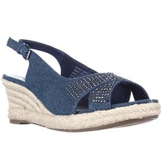c740796c6bf874 KS Dotti Slingback Espadrille Wedge Sandals Medium Denim 65 M US     Want  additional info  Click on the image.(This is an Amazon affiliate link and I  ...
