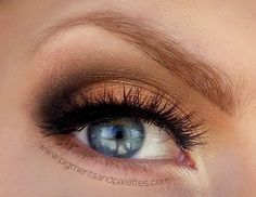 Beautiful Brown Makeup for Blue Eyes