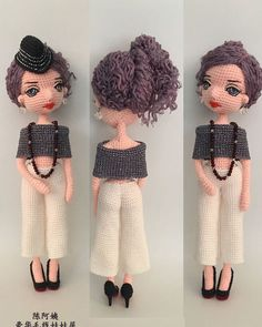 Amigurumi Doll, Amigurumi Patterns, Doll Patterns, Crochet Patterns, Cute Crochet, Knit Crochet, Crochet Hats, Doll Making Tutorials, African Dolls