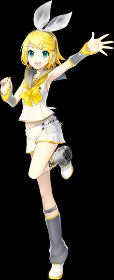 The cute Kagamine Rin
