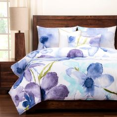Painted Petals Luxury 6-piece Duvet Set | Overstock.com Shopping - The Best Deals on Comforter Sets