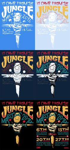 It Came From The Jungle - March by Ian Jepson, via Behance