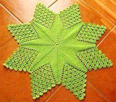 схема коврика ажурная звезда