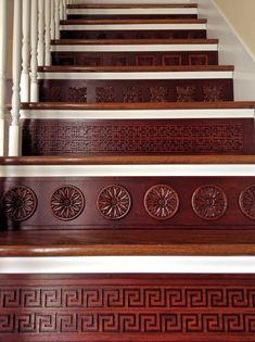 Wood Stair Riser / Alternative to Vinyl Stair by TributeDesigns