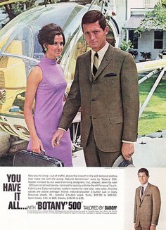 """""""You have it all!""""* Vintage Men's Fashion Ad by retro-space, via Flickr (*Accessories not included)"""