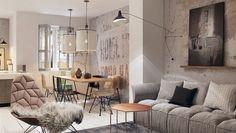 Concrete Finish Studio Apartments: Ideas & Inspiration