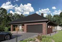Projekt domu Kordian Rex - murowana – beton komórkowy 124,6 m2 - koszt budowy - EXTRADOM House Plans, Outdoor Decor, Home Decor, Projects, Blueprints For Homes, Interior Design, Home Interiors, House Design, Home Plans