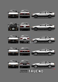 <br> Toyota Sprinter Trueno (Zenki and Kouki version) Corolla Ae86, Toyota Corolla, Toyota Cars, Toyota Supra, Toyota Celica, Honda S2000, Honda Civic, Initial D Car, Jdm Wallpaper