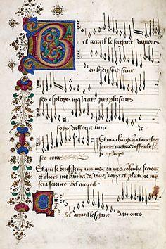 Mellon Chansonnier, Italian, c. Renaissance Music, Medieval Music, Medieval Art, Music Manuscript, Medieval Manuscript, Illuminated Letters, Illuminated Manuscript, Early Music, Book Of Hours