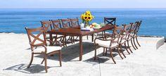 Cast Aluminum Patio Furniture - Elan Luxury Patio Dining Set