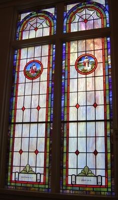 Stained Glass Windows at Meigs Baptist Church in Meigs, GA