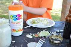 Wet-nap wipes to the rescue! Because aunties don't look at weather conditions or consider if the menu is picnic safe!