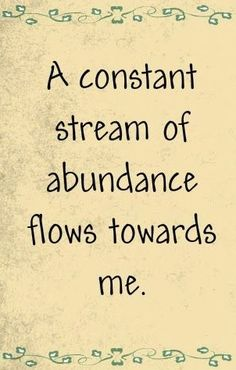 May I always be ABUNDANT! #intentionfocus