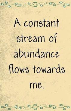 May I always be ABUNDANT! #intentionfocus