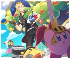 Prompto Argentum with Kirby (Mis)Adventures Final Fantasy Xv Prompto, Final Fantasy Collection, Video Games Funny, Funny Games, Prompto Argentum, Noctis, Nerd Geek, Super Smash Bros, Kingdom Hearts