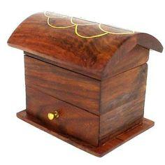 Decorative Box Hinges Handmade Small Lattice Cutwork Wood Box  Matr Boomie B  Wood