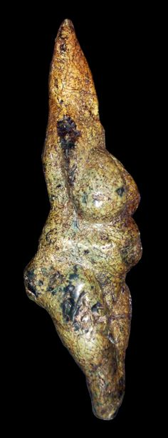 Vénus gravettienne de Savignano (Italie) - photographie personnelle au Musée Pigorini de Rome - Vincent Mourre. La Venere di Savignano è una statuetta steatopigia di epoca preistorica che rappresenta una donna: questo tipo di opera d'arte viene chiamato Venere paleolitica.