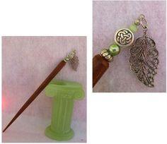 Silver Celtic Knot Leaf Charm Beaded Wooden Hair Stick  http://cgi.ebay.com/ws/eBayISAPI.dll?ViewItem=151008431189
