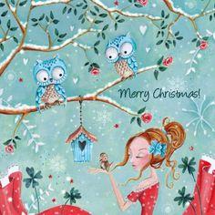 Kerstkaart - Cartita Design - Caroline Bonne Müller!     Aline for Christmas!