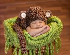 Monkey outfit for newborn photos!!!! must.have.it.