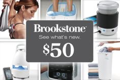50 dollar Brookstone Gift Card Voucher for just $20! They have awesome electronics, gadgets, massagers, furniture & more!