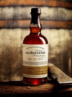 The Balvenie Single Malt Scotch Whiskey, with a signed #Whiskeys #Denim #Craftmanship #Thebakery