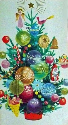 the last door down the hall: Vintage Christmas Tree Cards...