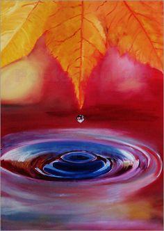 Atelier Stephanie Koehl - Herbstregen - Gemälde - Öl auf Leinwand