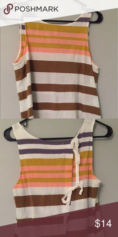 LAST CHANCE tie back Anthro tank Cute bows in back! Anthropologie Tops Tank Tops