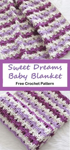 Purple Sweet Dreams Baby Blanket Purple Sweet Dreams Baby Blanket,Free Crochet Patterns Purple Sweet Dreams Baby Blanket Crochet Pattern – Free – A More Crafty Life There are images of the best DIY designs. Crochet Baby Blanket Free Pattern, Baby Afghan Crochet, Manta Crochet, Afghan Crochet Patterns, Baby Patterns, Freeform Crochet, Crochet Blankets, Amigurumi Patterns, Crochet Gratis