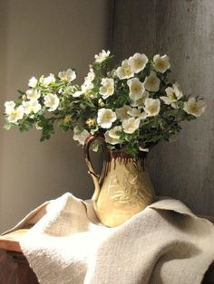 ♆ Blissful Bouquets ♆ gorgeous wedding bouquets, flower arrangements floral centerpieces - cherokee roses and the gorgeous textiles of wendy lewis. Flower Vases, Flower Art, Wendy Lewis, Beautiful Images, Beautiful Flowers, Cherokee Rose, Foto Poster, Mellow Yellow, Still Life Photography