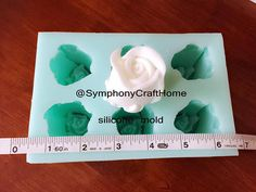 6 cavities rose bud single rose bud rose mold rose soap