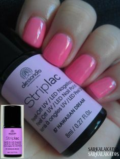 87 - Hawaiian Dream; two coats (see original pic vs. my photo) it's really more neon pink than toxic violet :) pitty ;)