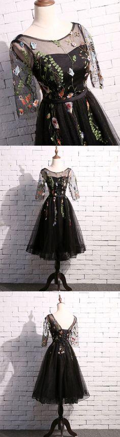 cute black short prom dress, black homecoming dress #shortpromdresses
