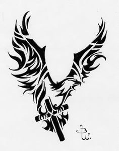 cross with angel wings and banner - Google Search