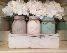 Mason Jar Decorative Tray's Centerpieces by Customizeit2016