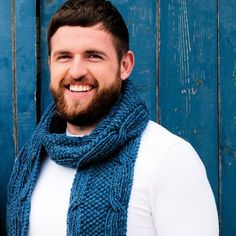 Liam Aran Scarf Pattern A unisex scarf pattern inspired by the Irish sea. This pattern uses rolling Celtic cables, which take their inspiration from the movement of the sea. Knitting Projects, Knitting Patterns, Irish Sea, Knit Scarves, Cowls, Knitting Needles, Celtic, Knit Crochet, Unisex