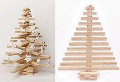 Déco de Noël : Sapin en bois et en volume à réaliser soi-même ! | Les Esthètes - Le Blog