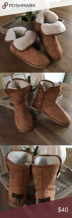 be5329e2c04696 Nautica winter boot Soft sueded fabric Tan in color Super comfortable warm  winter boot Sized 9