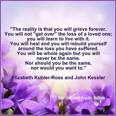 You will grieve forever