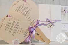 menu di nozze tondo su bastoncino