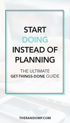 The essence of getting things done (GTD) is simple - you have to do them. This is the ultimate productivity guide for you on how to start doing instead of planning and how to achieve your goals instead of procrastinating. The Plan, How To Plan, To Do Planner, Mental Training, Productivity Hacks, Increase Productivity, How To Stop Procrastinating, Startup, Time Management Tips
