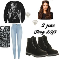 """2 PAC THUG LIFE"" by hatianmamacita on Polyvore"