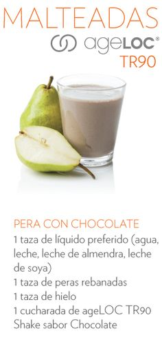 Una deliciosa receta para tu shake de chocolate ageLOC #TR90 Nu Skin, Nuskin Tr90, Tableware, Skin Products, Beauty, Innovation, Spanish, Food, Loosing Weight