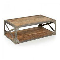 tafel van hout en metaal | stoer en industrieel