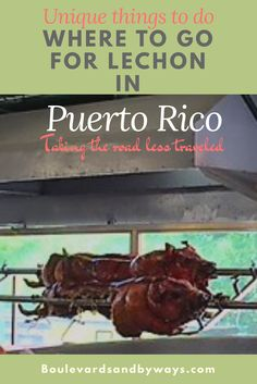 Follow the road to Pork Highway for the best Lechon in Puerto Rico. Find out more about the best lechon in Puerto Rico here:   http://boulevardsandbyways.com/blog/best-lechon-puerto-rico/  . . . . . #lechonpuertorico #pr #arrozcongandules #prtour #prrestaurant #lechon #prdinner #puertorico #guavates #puertoricoisland