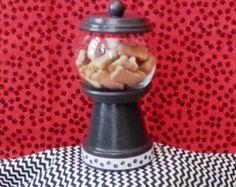 Treat Jar, Dog Treat Jar, Cat Treat Jar, Pet Treat Container, Gumball Treat Jar…