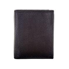 Faddism Vermont Men's Black/ Trifold Wallet